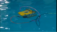 Competitions of underwater robots in Astrakhan